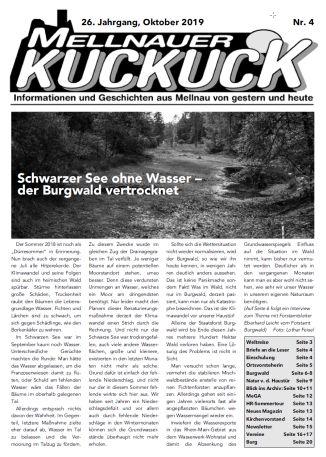 Mellnauer Kuckuck, Ausgabe 4/2019